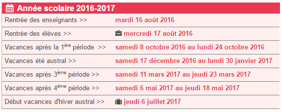 calendrier scolaire 2018 reunion 974